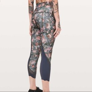 Lululemon Wunder Under Crop Frosted Rose Leggings